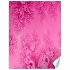 Soft Pink Frost of Morning Fractal Canvas 18  x 24  (Unframed)