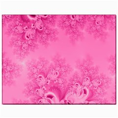 Soft Pink Frost of Morning Fractal Canvas 11  x 14  (Unframed)
