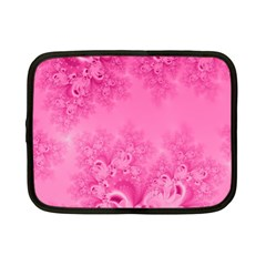 Soft Pink Frost Of Morning Fractal Netbook Sleeve (small)