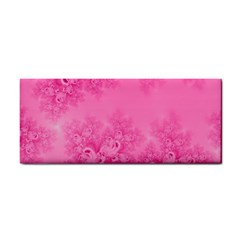 Soft Pink Frost Of Morning Fractal Hand Towel