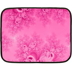 Soft Pink Frost of Morning Fractal Mini Fleece Blanket (Two Sided)