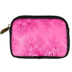 Soft Pink Frost Of Morning Fractal Digital Camera Leather Case