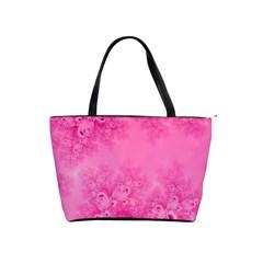 Soft Pink Frost Of Morning Fractal Large Shoulder Bag