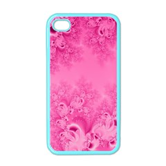 Soft Pink Frost Of Morning Fractal Apple Iphone 4 Case (color)