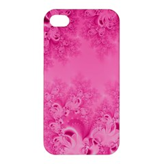 Soft Pink Frost Of Morning Fractal Apple Iphone 4/4s Hardshell Case