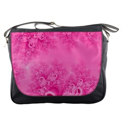 Soft Pink Frost Of Morning Fractal Messenger Bag