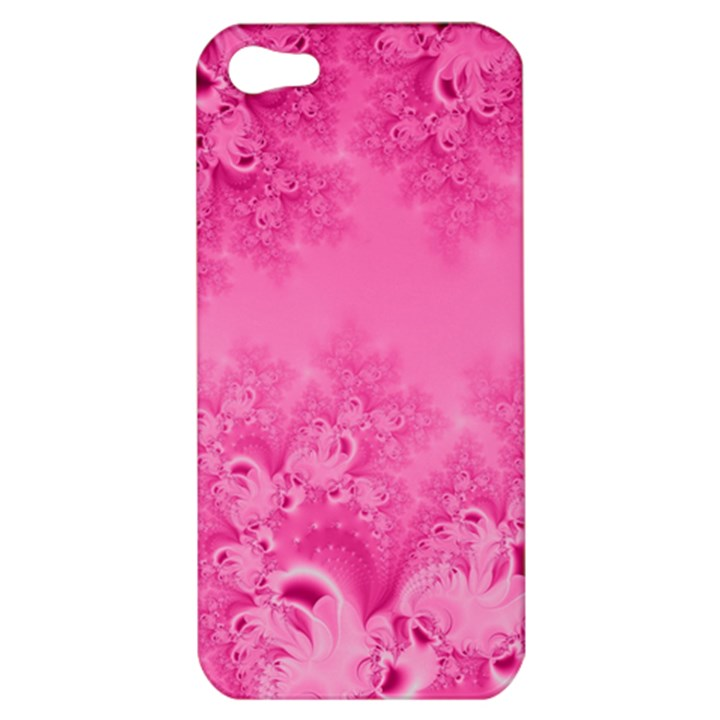 Soft Pink Frost of Morning Fractal Apple iPhone 5 Hardshell Case