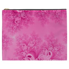 Soft Pink Frost of Morning Fractal Cosmetic Bag (XXXL)