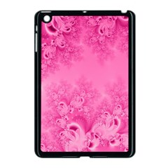 Soft Pink Frost Of Morning Fractal Apple Ipad Mini Case (black)