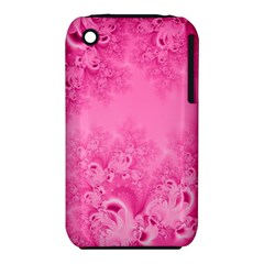 Soft Pink Frost Of Morning Fractal Apple Iphone 3g/3gs Hardshell Case (pc+silicone)
