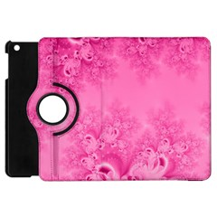 Soft Pink Frost Of Morning Fractal Apple Ipad Mini Flip 360 Case