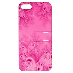 Soft Pink Frost Of Morning Fractal Apple Iphone 5 Hardshell Case With Stand