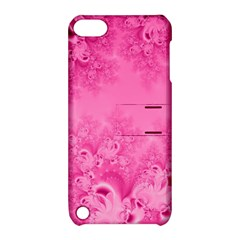 Soft Pink Frost Of Morning Fractal Apple Ipod Touch 5 Hardshell Case With Stand