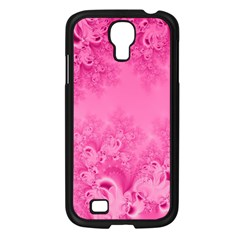 Soft Pink Frost of Morning Fractal Samsung Galaxy S4 I9500/ I9505 Case (Black)