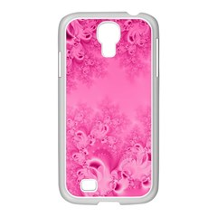 Soft Pink Frost of Morning Fractal Samsung GALAXY S4 I9500/ I9505 Case (White)