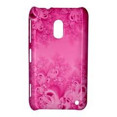 Soft Pink Frost of Morning Fractal Nokia Lumia 620 Hardshell Case