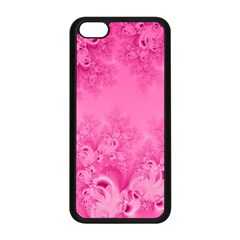Soft Pink Frost Of Morning Fractal Apple Iphone 5c Seamless Case (black)