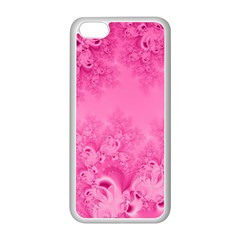 Soft Pink Frost of Morning Fractal Apple iPhone 5C Seamless Case (White)