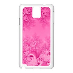 Soft Pink Frost of Morning Fractal Samsung Galaxy Note 3 N9005 Case (White)
