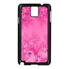Soft Pink Frost Of Morning Fractal Samsung Galaxy Note 3 N9005 Case (black)