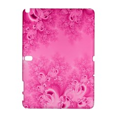 Soft Pink Frost Of Morning Fractal Samsung Galaxy Note 10 1 (p600) Hardshell Case