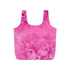 Soft Pink Frost Of Morning Fractal Reusable Bag (s)