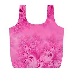 Soft Pink Frost of Morning Fractal Reusable Bag (L)