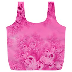 Soft Pink Frost of Morning Fractal Reusable Bag (XL)