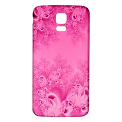 Soft Pink Frost Of Morning Fractal Samsung Galaxy S5 Back Case (white)