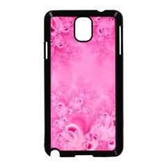 Soft Pink Frost Of Morning Fractal Samsung Galaxy Note 3 Neo Hardshell Case (black)