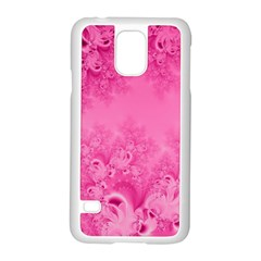 Soft Pink Frost of Morning Fractal Samsung Galaxy S5 Case (White)