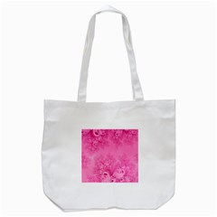 Soft Pink Frost Of Morning Fractal Tote Bag (white)