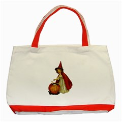 Vintage Halloween Child Classic Tote Bag (Red)