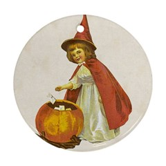 Vintage Halloween Child Round Ornament