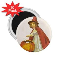 Vintage Halloween Child 2.25  Button Magnet (10 pack)