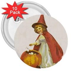 Vintage Halloween Child 3  Button (10 pack)