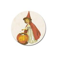 Vintage Halloween Child Magnet 3  (Round)