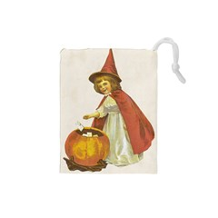 Vintage Halloween Child Drawstring Pouch (Small)
