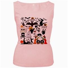 Halloween Mashup Women s Tank Top (Pink)