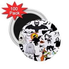 Halloween Mashup 2 25  Button Magnet (100 Pack)