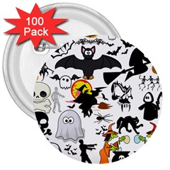 Halloween Mashup 3  Button (100 Pack)