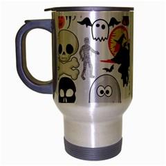 Halloween Mashup Travel Mug (Silver Gray)