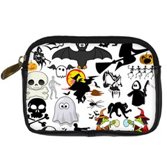 Halloween Mashup Digital Camera Leather Case