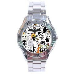 Halloween Mashup Stainless Steel Watch