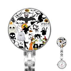 Halloween Mashup Stainless Steel Nurses Watch