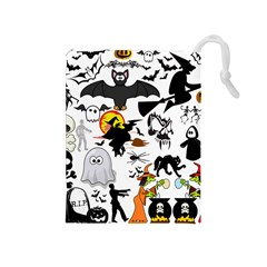 Halloween Mashup Drawstring Pouch (Medium)