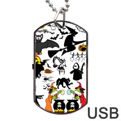 Halloween Mash Up Dog Tag USB Flash (Two Sides)