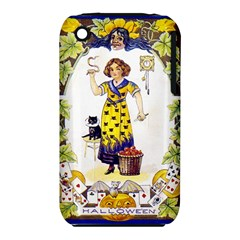 Vintage Halloween Postcard Apple iPhone 3G/3GS Hardshell Case (PC+Silicone)