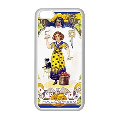 Vintage Halloween Postcard Apple iPhone 5C Seamless Case (White)