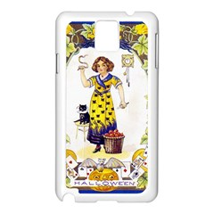 Vintage Halloween Postcard Samsung Galaxy Note 3 N9005 Case (White)